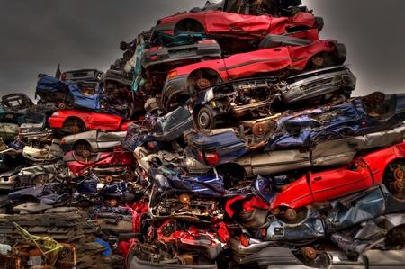 trashy: scene on a scrap heap Stock Photo