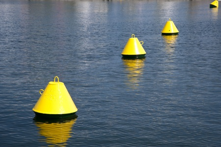kiel fjord: Buoys in the Kiel Fjord