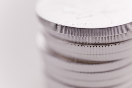 Close up of Silver Coins photo