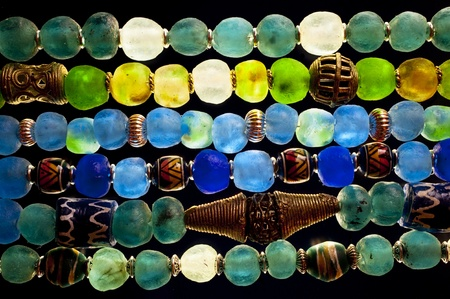 Close up of Glass Beads photo