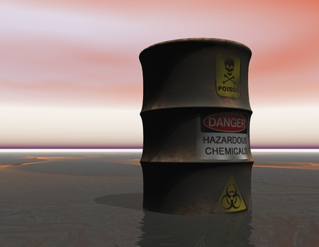 Digital Visualization of toxic Waste Stock Photo - 21256262