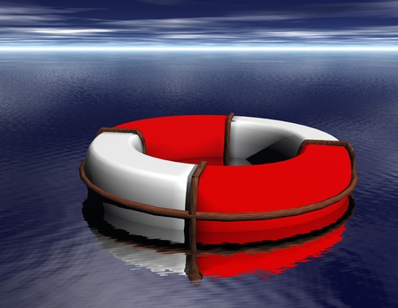 lifesaver: Digital Illustration of a Lifesaver