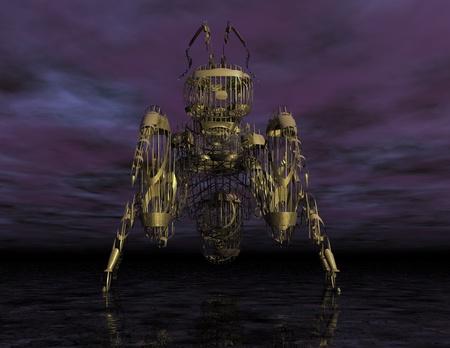 Digital Illustration of a surreal Ant illustration