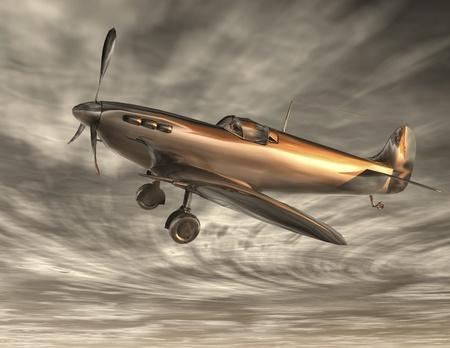 reflektion: Digital Illustration of an Airplane