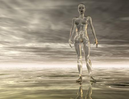 Digital Illustration of a surreal Woman illustration