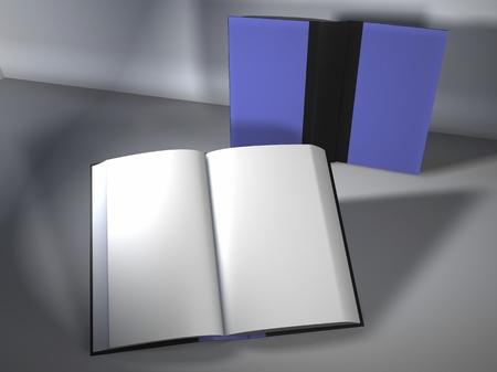 Digital Illustration of Books