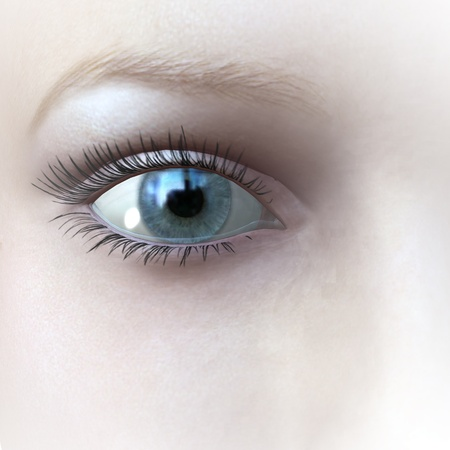 digital rendering of an eye photo