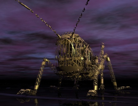 realism: Digital Illustration of a Migratory Locust