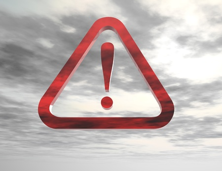 computergraphics: digital rendering of a danger sign Stock Photo
