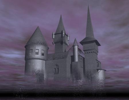 pipe dream: visualizaci�n digital de un castillo Foto de archivo