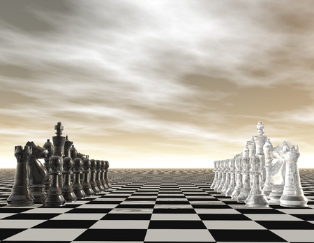 digital visualization of a chessboard photo