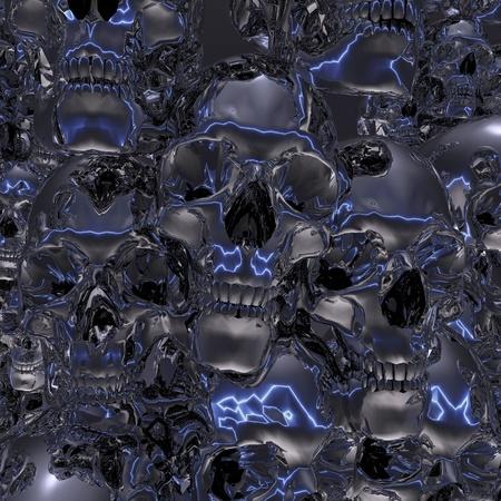 gruesome: Digital Illustration of Skulls