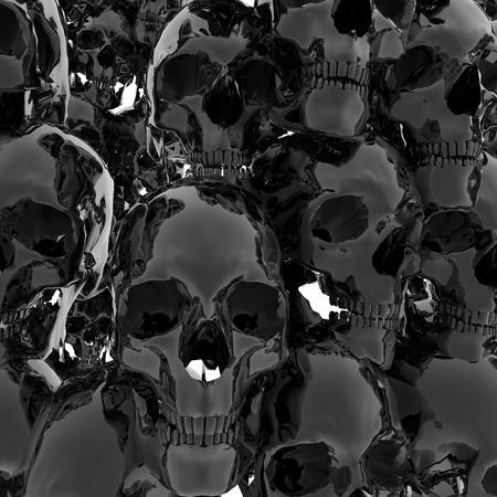 nightmarish: Digital Illustration of Skulls