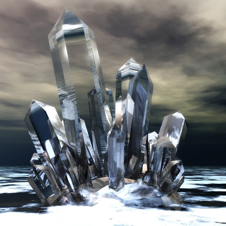 crystals: Digital Illustration of clear Crystals