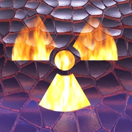 chernobyl: Digital Illustration of a Radioactivity Sign Stock Photo