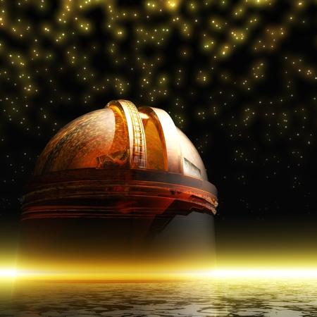Illustrazione digitale di un Osservatorio