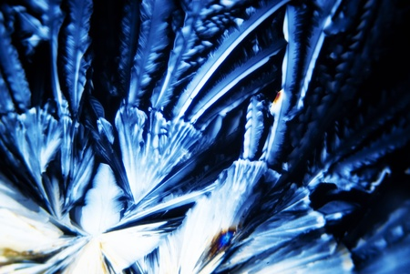 crystalline: Micro Crystals in polarized Light Stock Photo