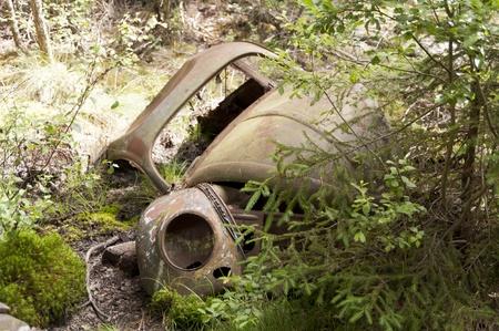 Car Dump in Kirkoe Mosse, Sweden Stock Photo - 21474295