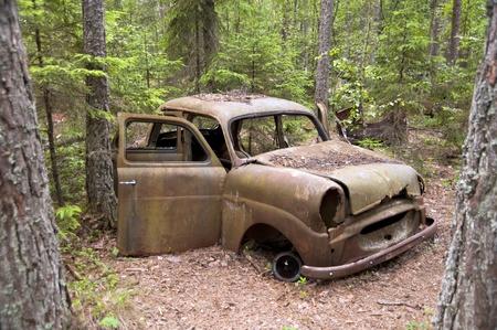 rusty car: Car Dump in Kirkoe Mosse, Sweden