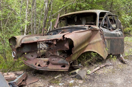 Car Dump in Kirkoe Mosse, Sweden photo