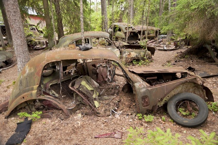 Car Dump in Kirkoe Mosse, Sweden Stock Photo - 21474329