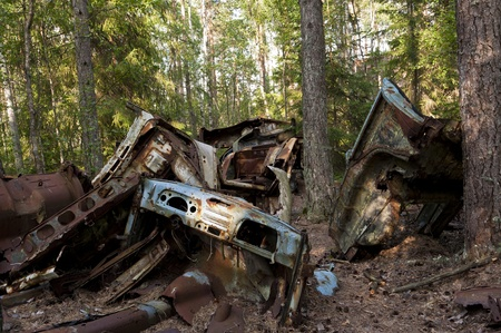 Car Dump in Kirkoe Mosse, Sweden Stock Photo - 21499274