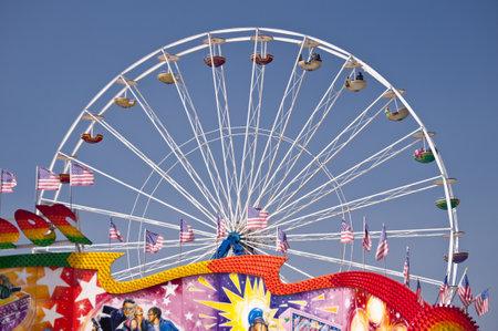 carrousel: Scene on a german Funfair