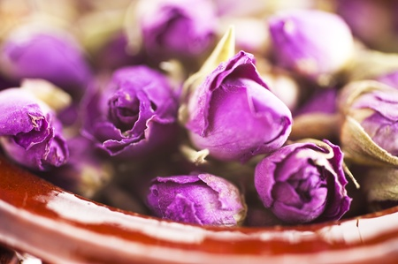 Dried Roses in a Cup photo