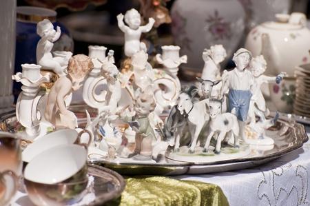 secondhand: Scene on a Flea Market Stock Photo
