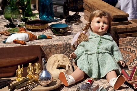 Scene on a Flea Market Stock Photo