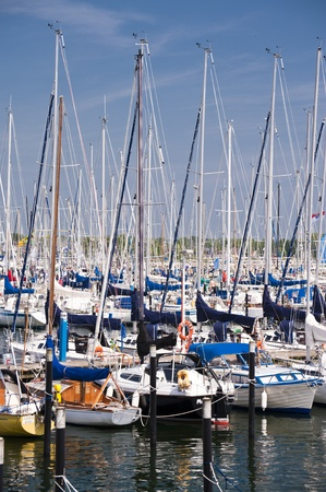 kiel: Marina with Sailing Boats in Kiel