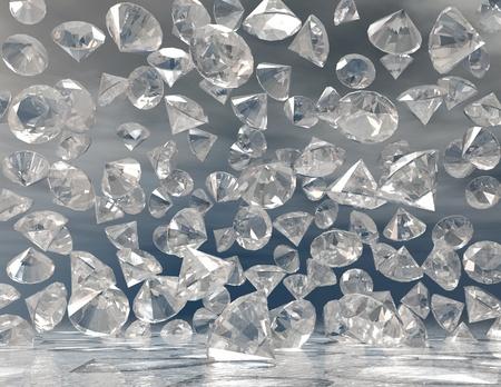 brillant: digital visualization of diamonds Stock Photo