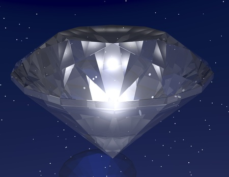digital visualization of a diamond photo