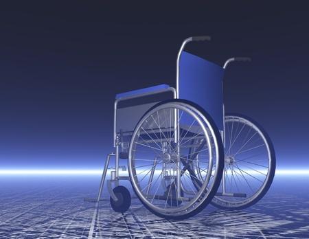 invalidity: digital visualization of a wheelchair Stock Photo