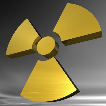 plutonium: Digital Illustration of a radioactive Sign