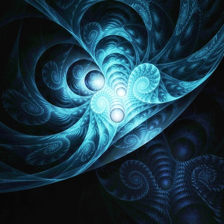 chaos theory: Digital Illustration of a Fractal