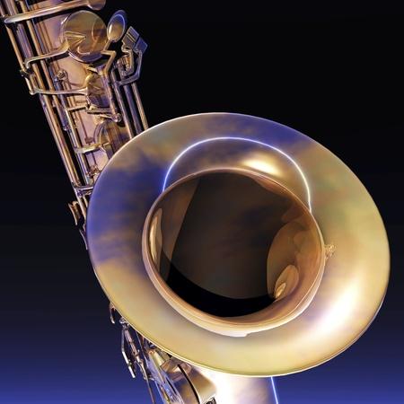 Digital Illustration of a Saxophone Stok Fotoğraf
