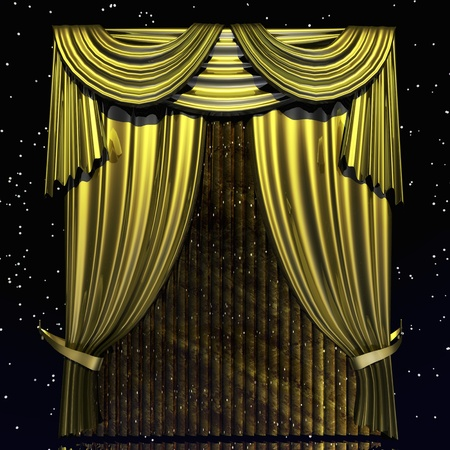 operetta: Digital Illustration of a Curtain Stock Photo