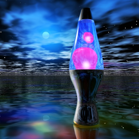 lava lamp: Digital Illustration of a Lava Lamp Stock Photo