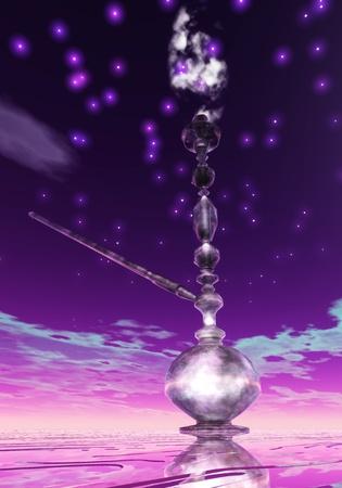 pipe dream: Ilustraci�n digital de un Shisha