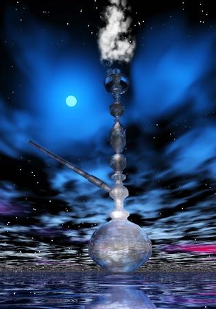 Digital Illustration of a Shisha