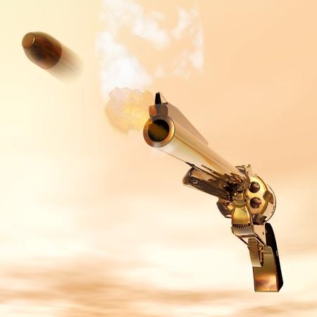 murder: Digital Illustration of a Revolver