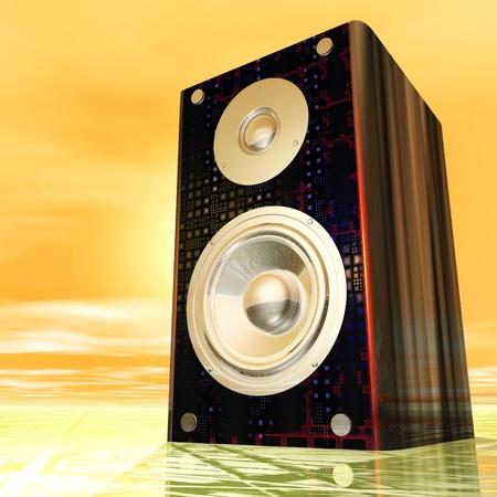 Digital Illustration of a Speaker