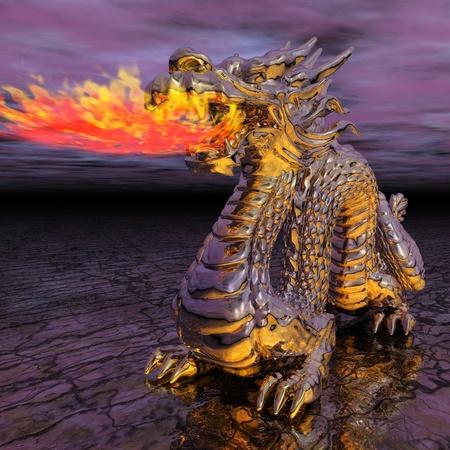 pucker: Digital Illustration of a Dragon