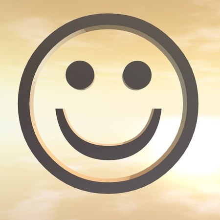 emblematic: Digital Illustration of a Smiley Stock Photo