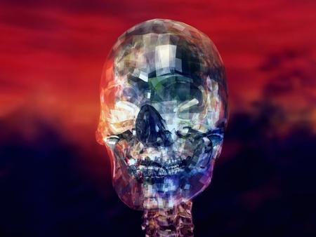 Digital Illustration of a human Skull Stock Illustration - 21804208