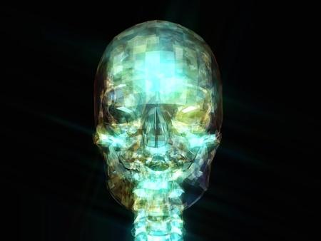 astral body: Ilustraci�n digital de un cr�neo humano