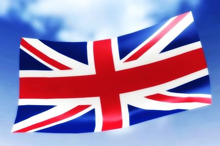 whiff: Illustration of a waving Flag Stock Photo