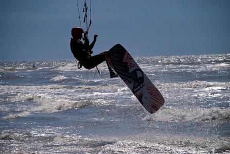 kiter: Kit Surfer in St. Peter-Ording