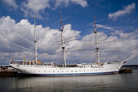 Sailing Ship in the Port of Stralsund